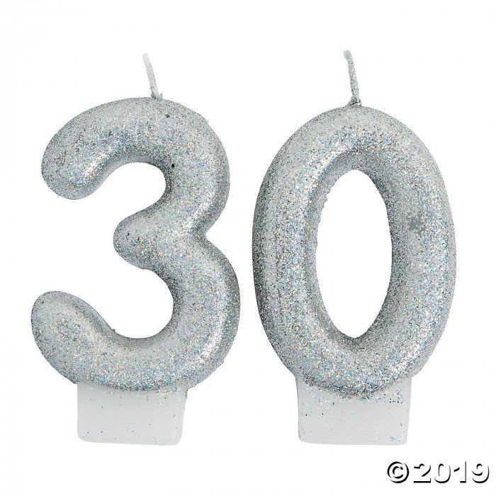 30th Birthday Sparking Celebration Candle (1 Set(s))