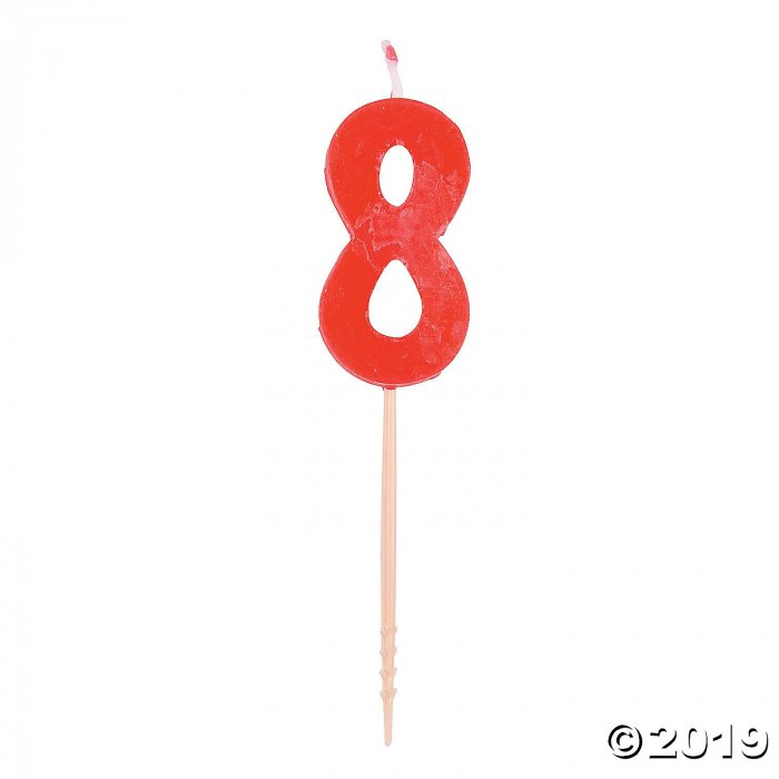 Red Number 8 Candle (1 Piece(s))