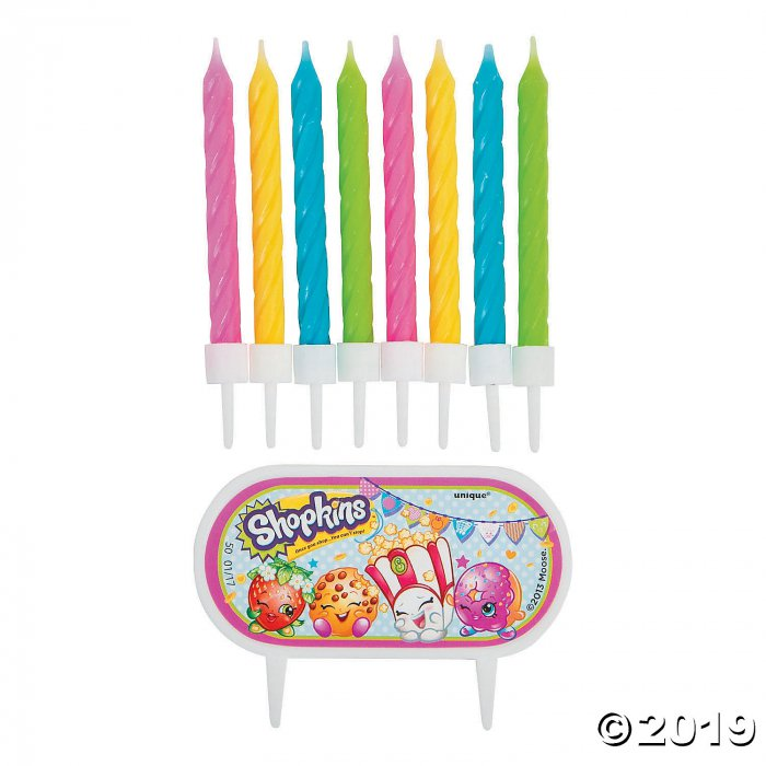 Shopkins™ Cake Decoration with Birthday Candles (1 Set(s))