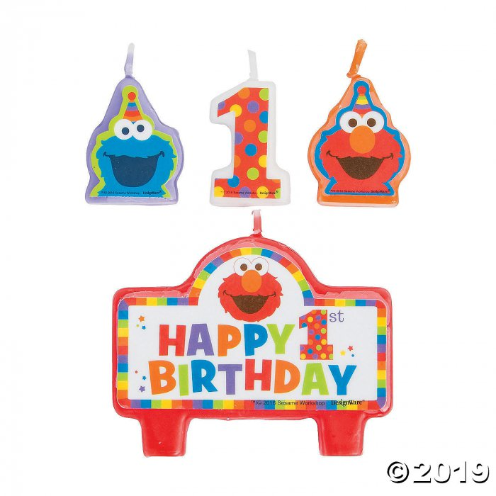 Sesame Street® Elmo Turns One Candle Set (1 Set(s))