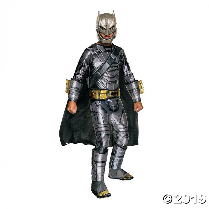 Boy's Armored Deluxe Muscle Chest Batman Costume - Small (1 Piece(s))