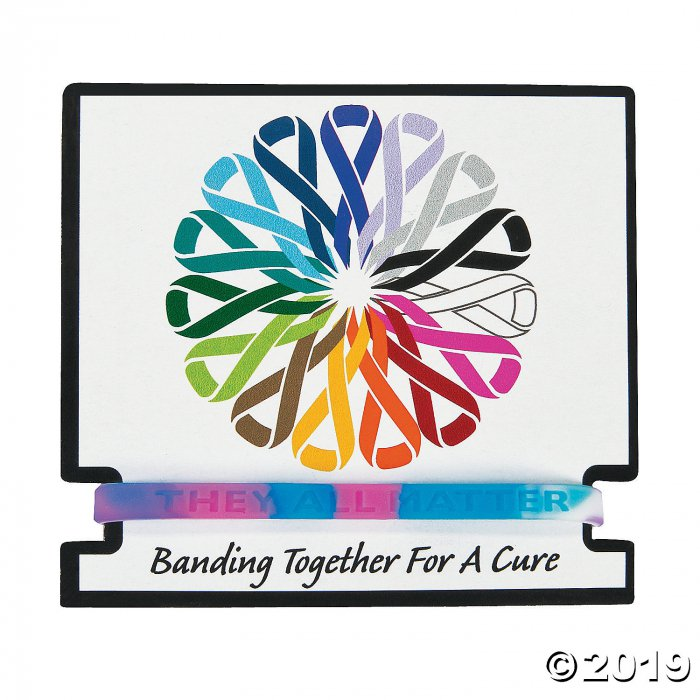 Inspiring Awareness Rubber Bracelets with Card (Per Dozen)