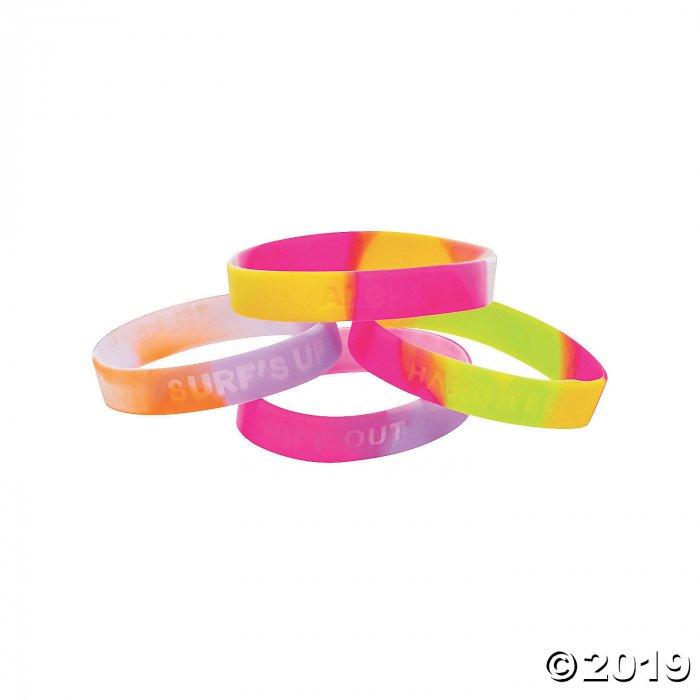 Luau Sayings Silicone Bracelets (Per Dozen)