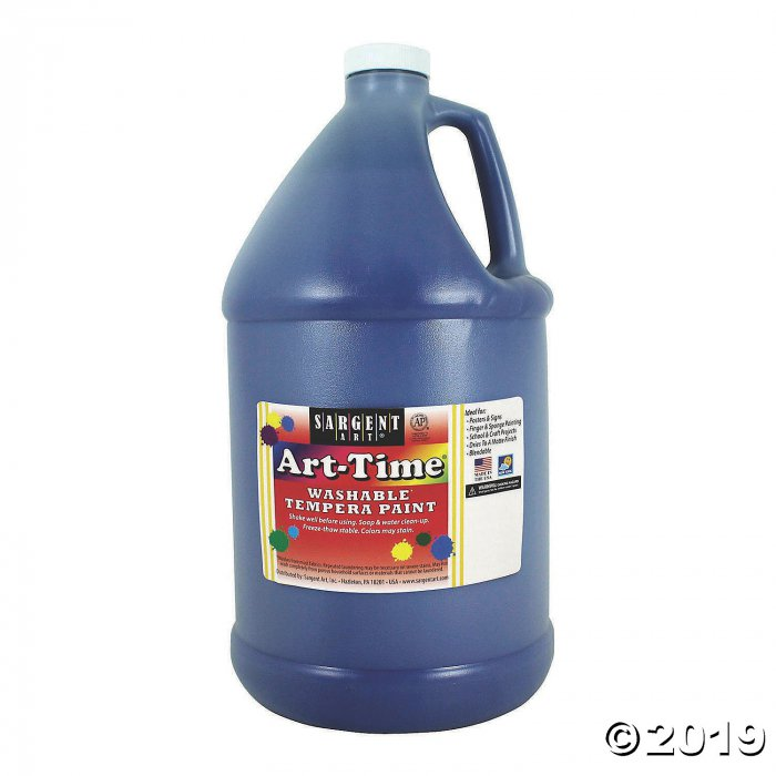Sargent Art® Art-Time® Washable Tempera Paint, Gallon, Blue, Pack of 2 (2 Piece(s))
