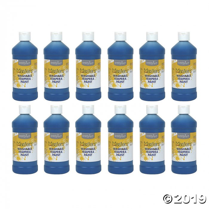 Handy Art® Little Masters™ Washable Tempera Paint, 16 oz, Blue, Pack of 12 (12 Piece(s))