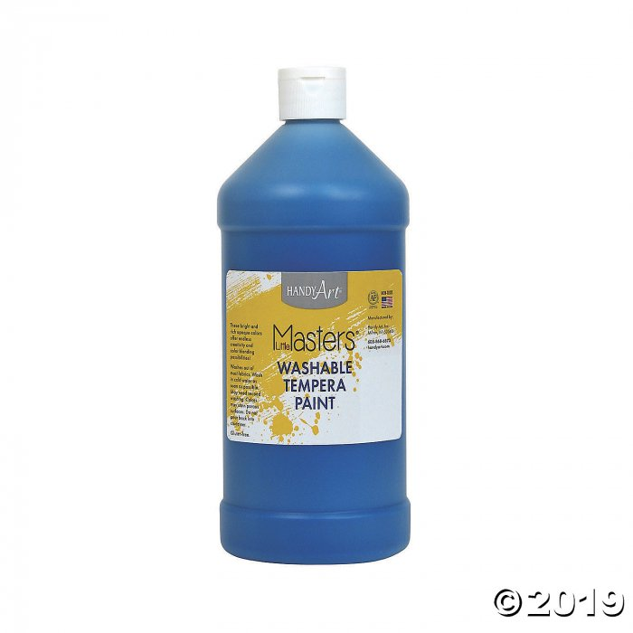 Handy Art® Little Masters™ Washable Tempera Paint, 32 oz, Blue, Pack of 6 (6 Piece(s))