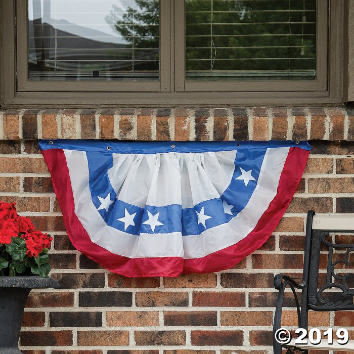 Cloth Patriotic Bunting with Large Stars (1 Piece(s))