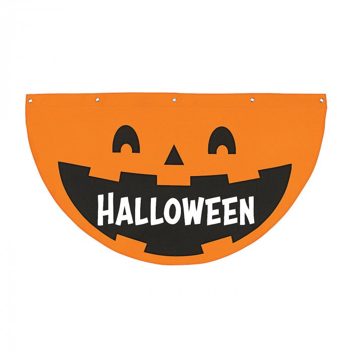 Personalized Jack-O'-Lantern Bunting Halloween Decoration (1 Piece(s))