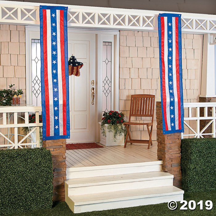 Cloth Patriotic Pillar Bunting (1 Set(s))