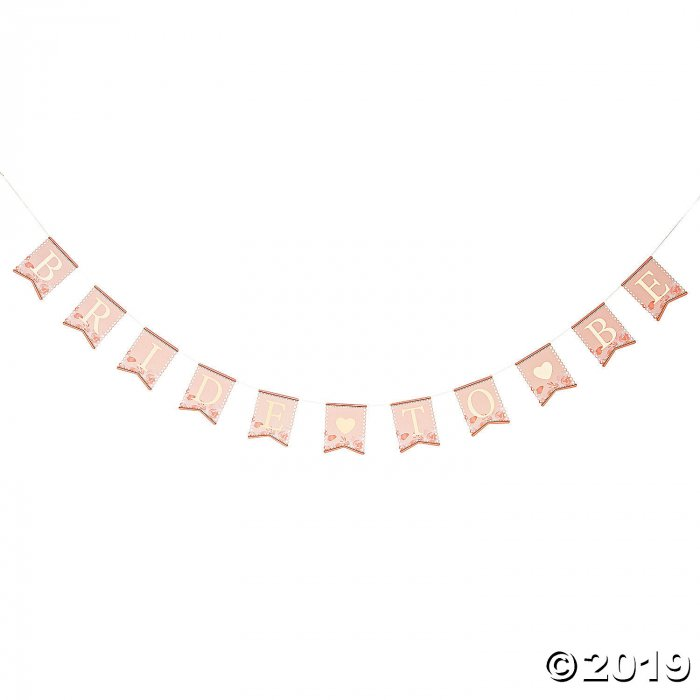 Lillian Rose™ Pink & Gold Bride-to-Be Bunting