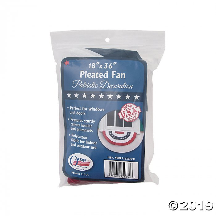 Small Pleated Patriotic Cloth Bunting (1 Piece(s))