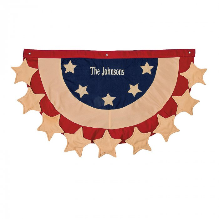 Cloth Personalized Patriotic Bunting