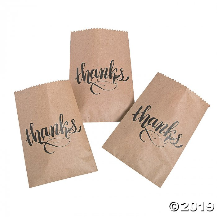 Thanks Treat Bags (50 Piece(s))
