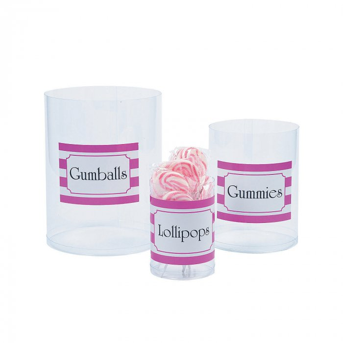 Personalized Clear Candy Cylinders (6 Piece(s))