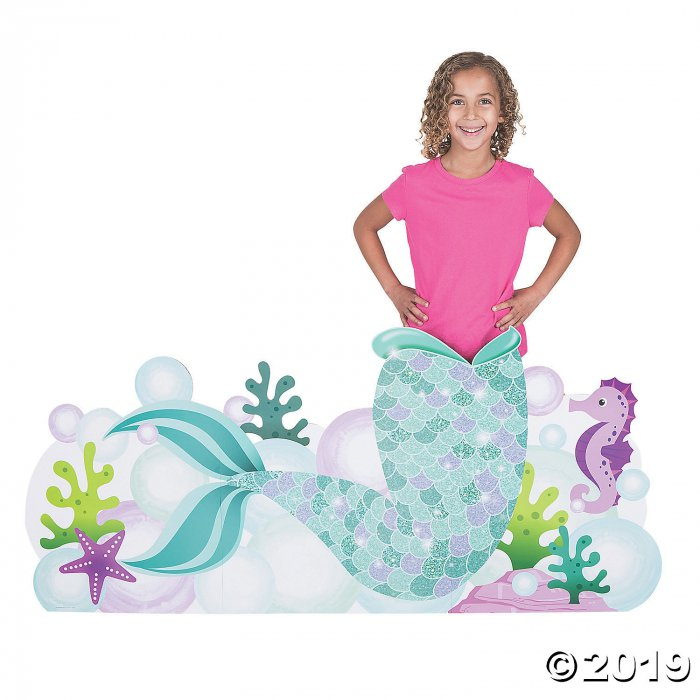 Mermaid Sparkle Tail Photo Booth Cardboard Stand-Up (1 Piece(s))