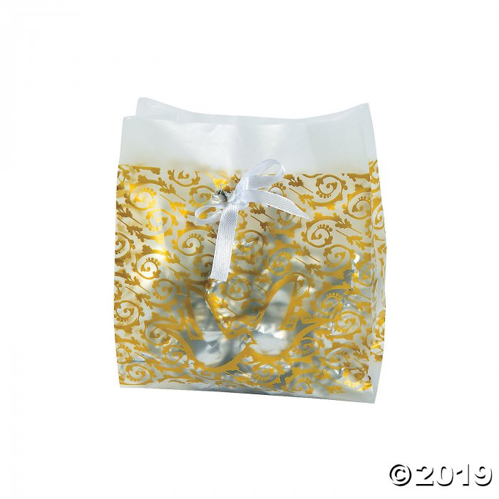 Frosted Gold Wedding Treat Bags (48 Piece(s))