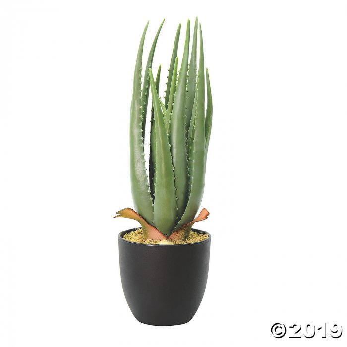 "Vickerman 17.5"" Artificial Green Potted Aloe Vera (1 Piece(s))"