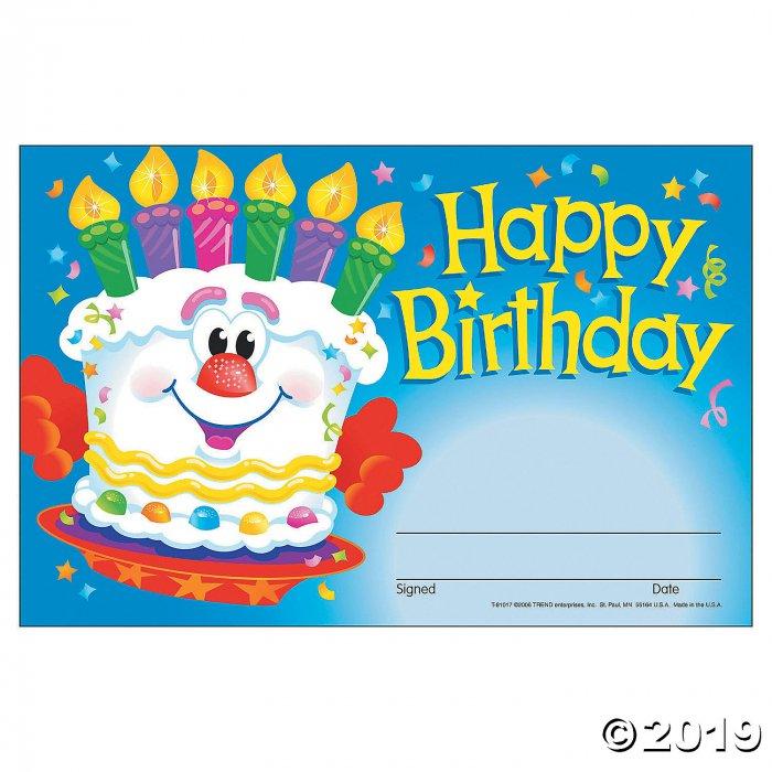 Happy Birthday Cake Award Certificates (1 Unit(s))