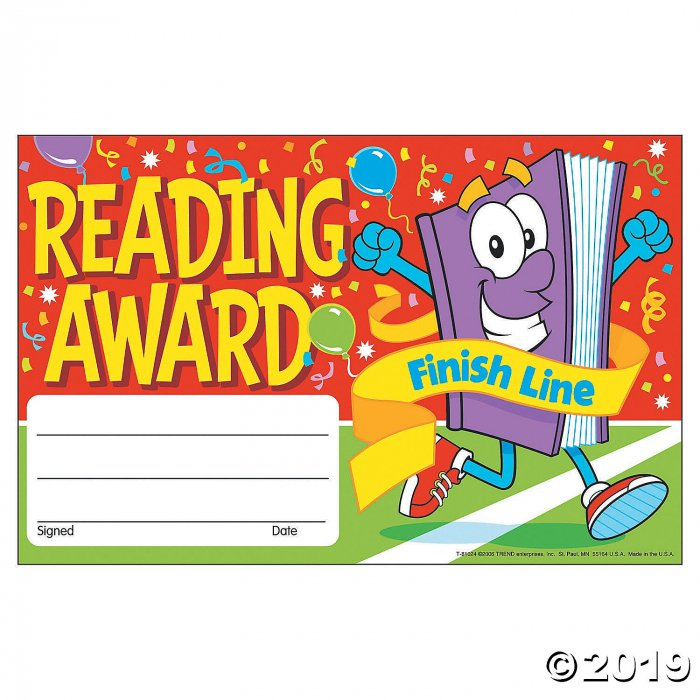 Finish Line Reading Award Certificates (1 Set(s))