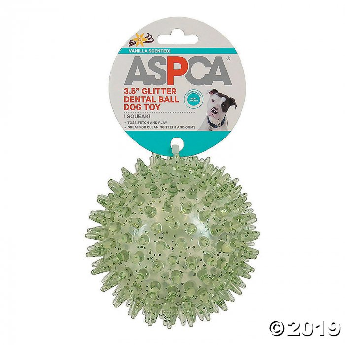 "3.5"" Glitter Dental Ball Dog Toy-Green (1 Piece(s))"