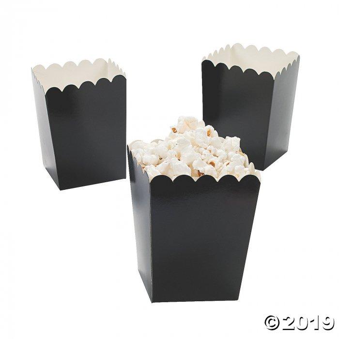 Mini Black Popcorn Boxes (24 Piece(s))