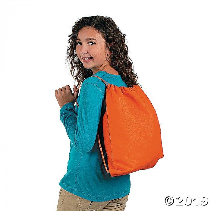 Large Bright Canvas Drawstring Bags (Per Dozen)