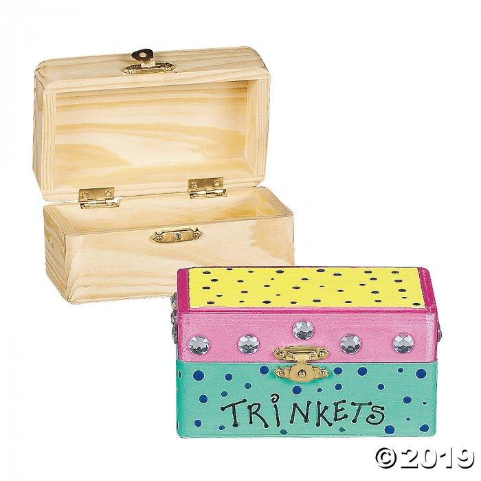 DIY Unfinished Wood Hinged Boxes (Per Dozen)