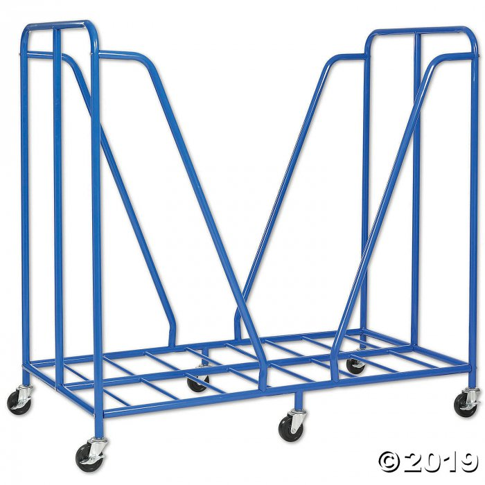 ECR4Kids Mobile Rest Mat Storage Trolley with Casters, Blue (1 Unit(s))