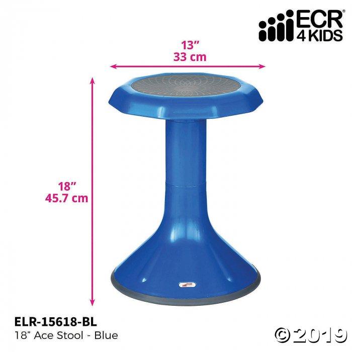 ECR4Kids ACE Active Core Engagement Wobble Stool for Kids, 18, Blue (1 Unit(s))