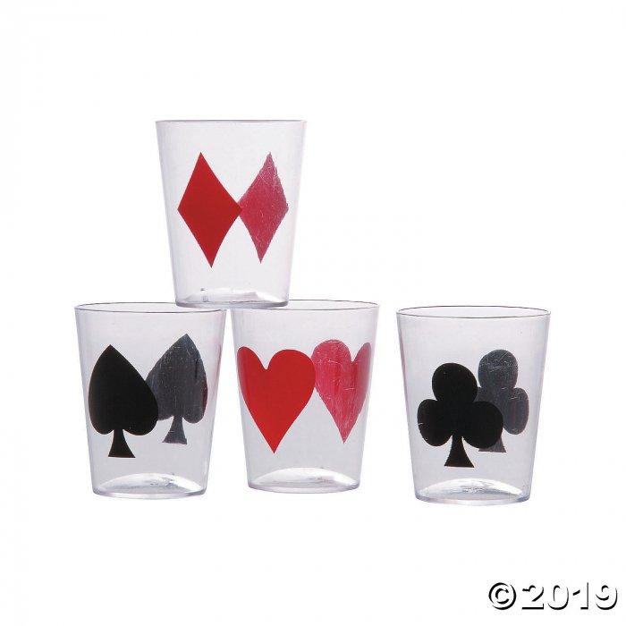 Casino Card Suit Shot Glasses (24 Piece(s))