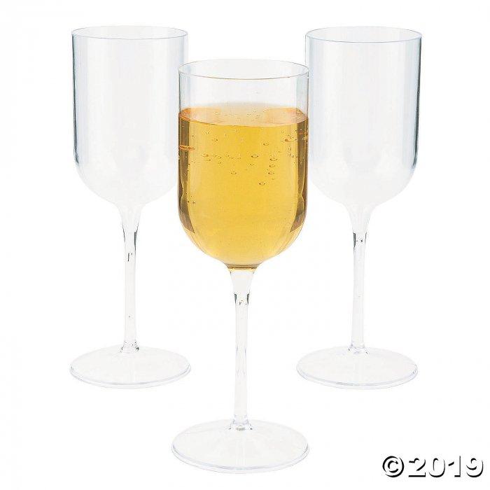 Clear Premium Plastic Wine Glasses - 25 Pc.
