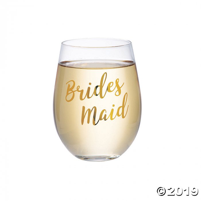 Lillian Rose™ Gold Bridesmaid Stemless Wine Glass (1 Piece(s))