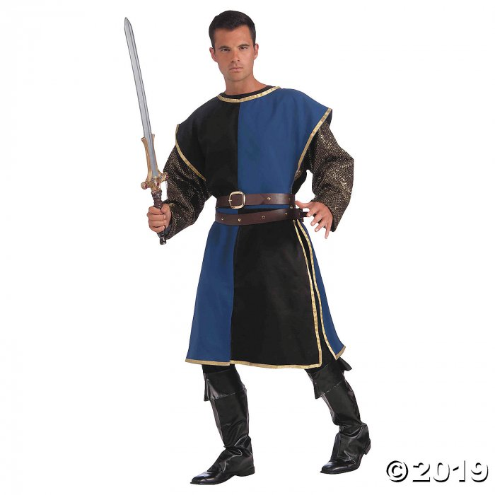 Men's Blue & Black Medieval Tabard (1 Piece(s))