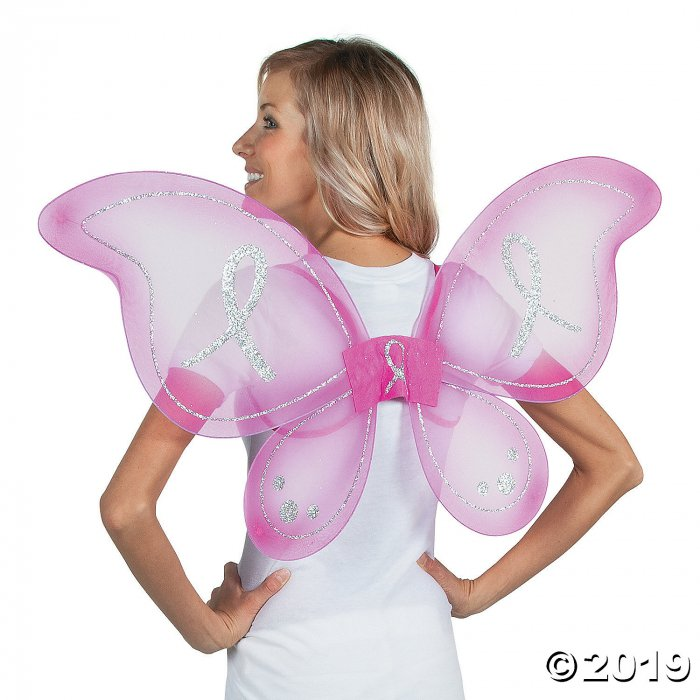 Breast Cancer Awareness Hot Pink Butterfly Wings (1 Piece(s))