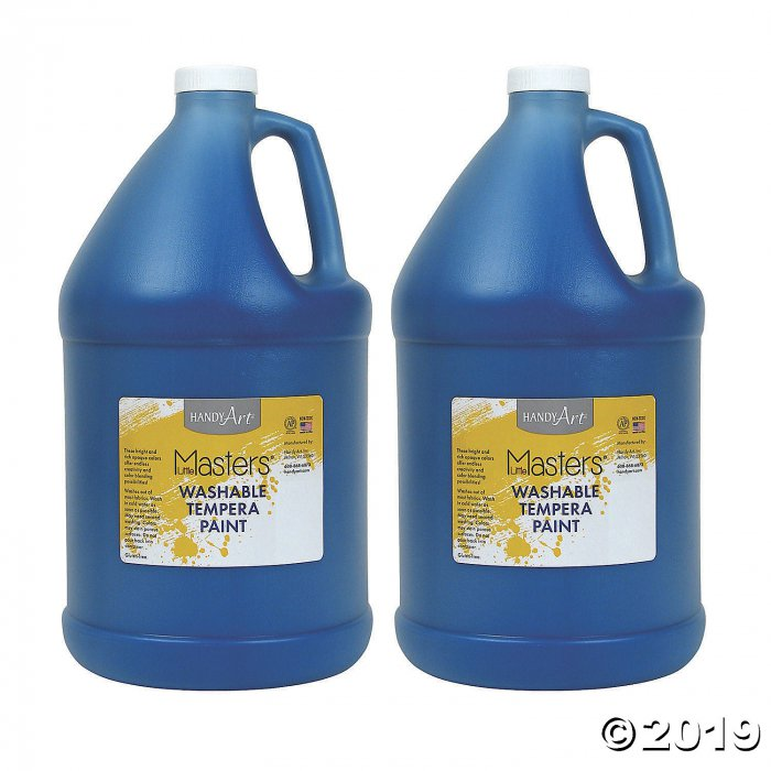 Handy Art® Little Masters™ Washable Tempera Paint, Gallon, Blue, Pack of 2 (2 Piece(s))