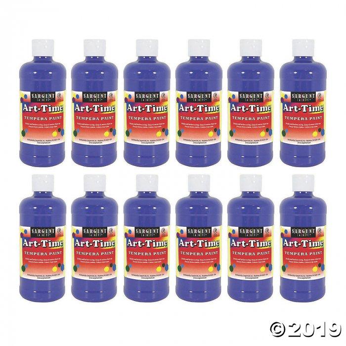 Sargent Art® Art-Time® Tempera Paint, 16 oz, Blue, Pack of 12 (12 Piece(s))
