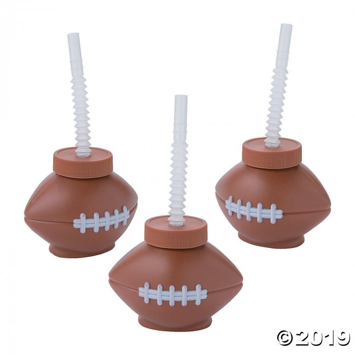 Football Cups with Straws (8 Piece(s))