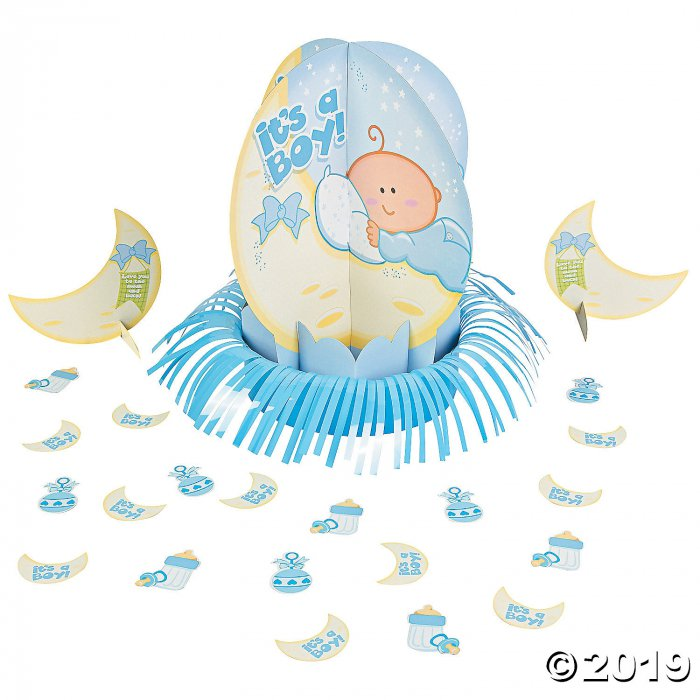 Blue Baby Shower Table Decorating Kit (1 Set(s))