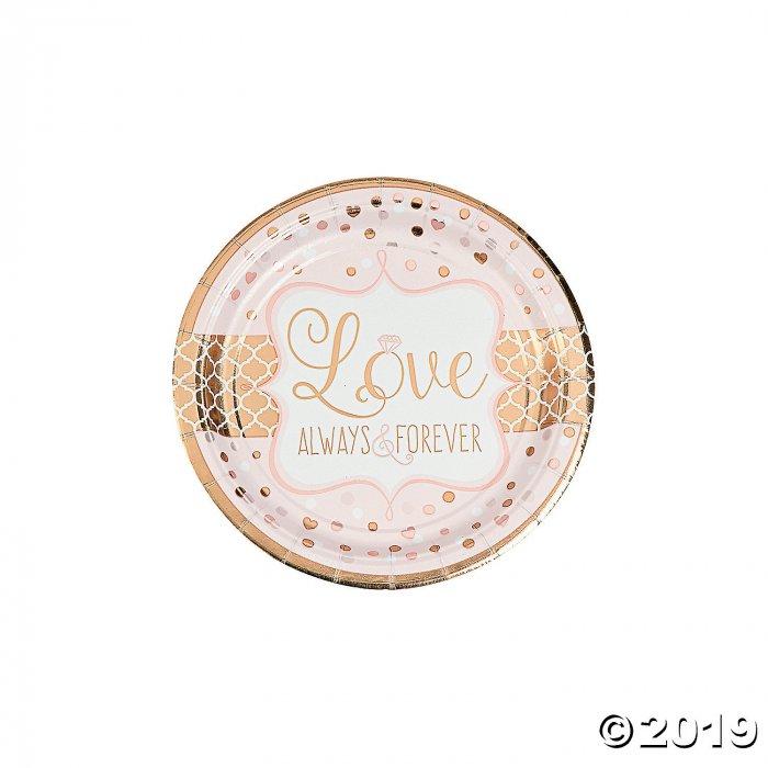 Sparkling Wedding Paper Dessert Plates (8 Piece(s))