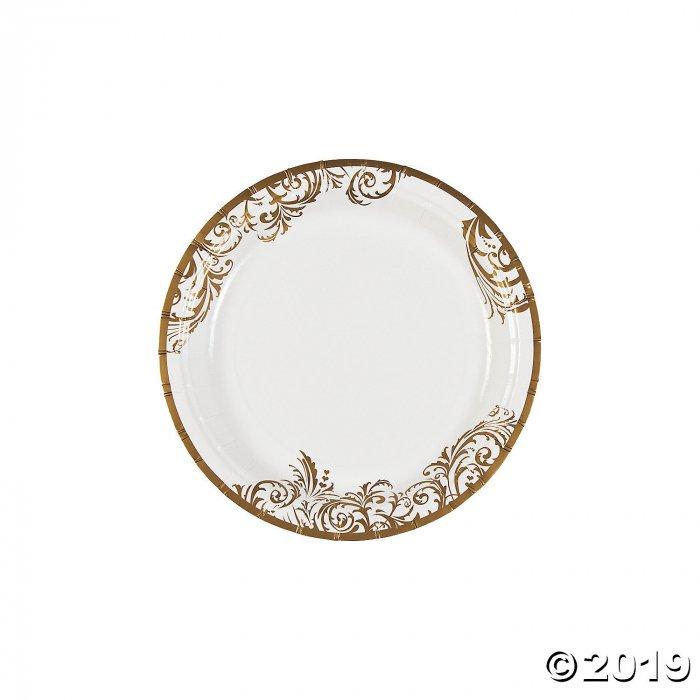 Fairy Tale Wedding Paper Dessert Plates (50 Piece(s))