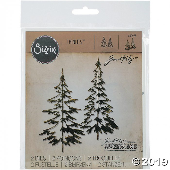 Tim Holtz® Sizzix® Thinlits Woodland Trees Cutting Dies (1 Set(s))
