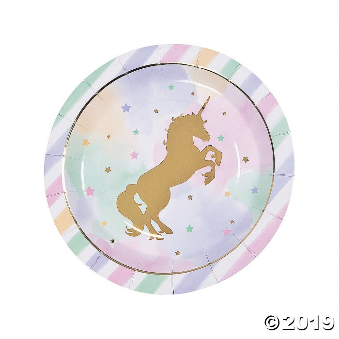 Sparkle Unicorn Round Paper Dinner Plates (8 Piece(s))