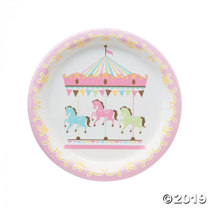 Carousel Baby Shower Paper Dinner Plates (8 Piece(s))