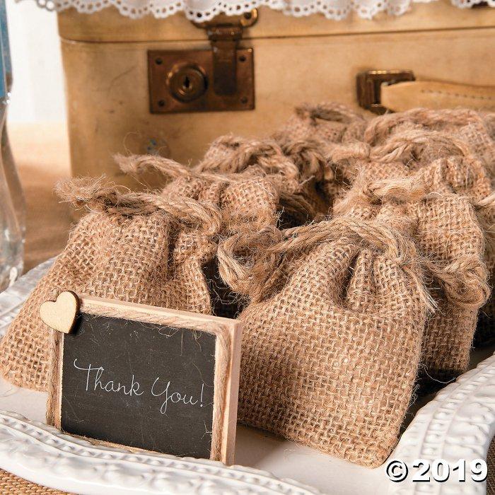 Mini Burlap Drawstring Bags (Per Dozen)