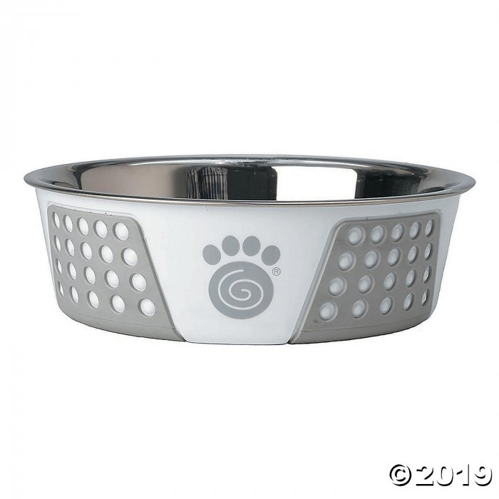 Stainless Steel Bowl - White/Gray (1 Piece(s))