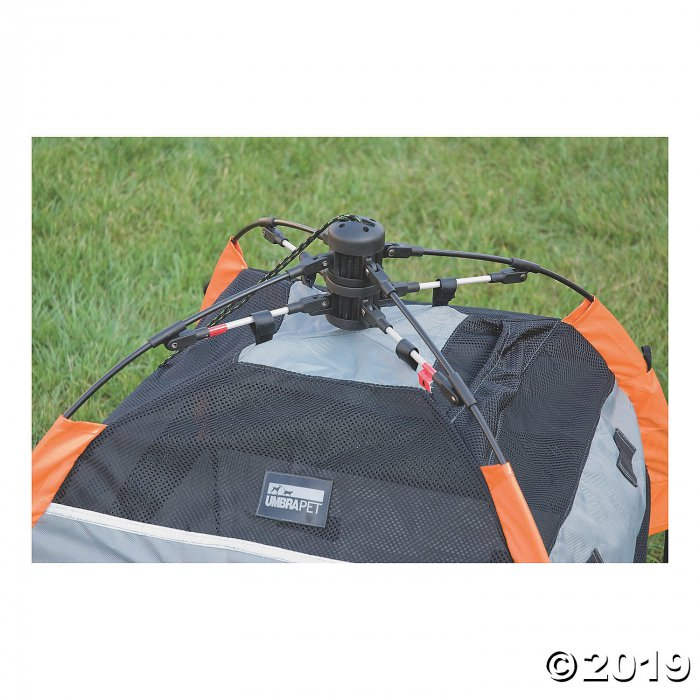 Petego UPet Portable Tent And Containment System - Large, Orange/Charcoal (1 Piece(s))