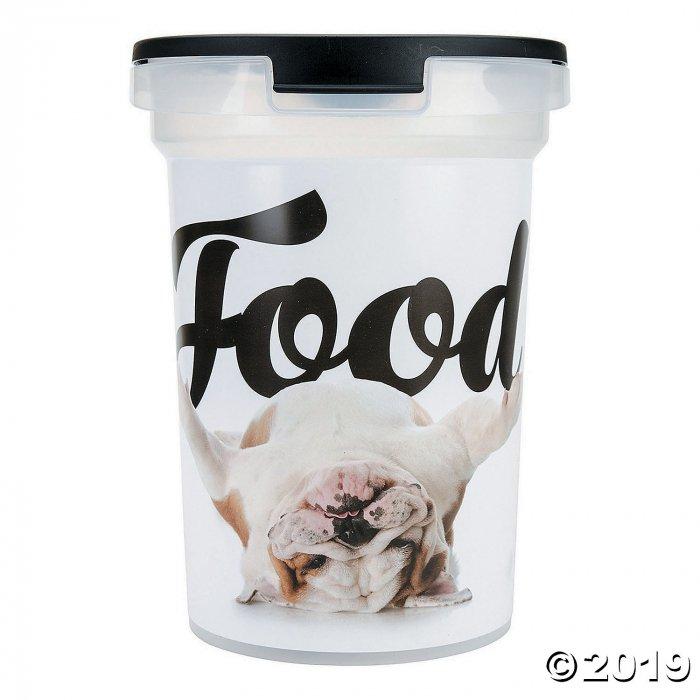 Plastic Pet Food Bin -Bulldog (1 Piece(s))