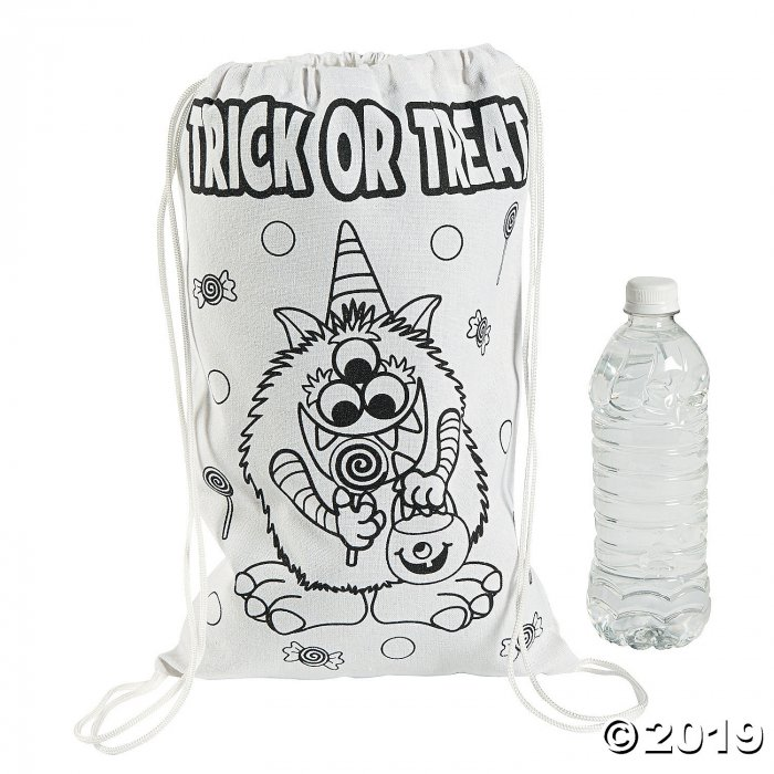 Color Your Own Medium Trick-or-Treat Drawstring Bags (Per Dozen)