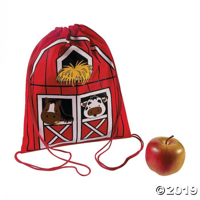 Medium Barnyard Drawstring Bags (Per Dozen)