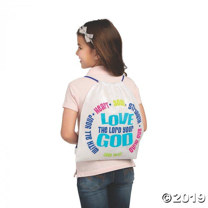 Love Your God Drawstring Bags (Per Dozen)